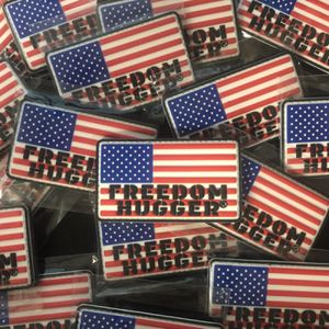 RWB Freedom Hugger PVC Patch with Velcro Thumbnail