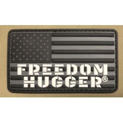 Black Freedom Hugger PVC Patch Thumbnail